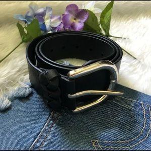 Loft Black Leather Belt ‼️